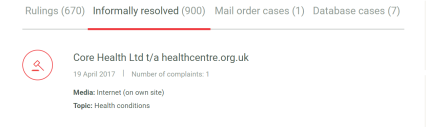 Core Health Rulings - ASA I CAP_ - https___www.asa.org.uk_codes-and-rulings_rulings.html